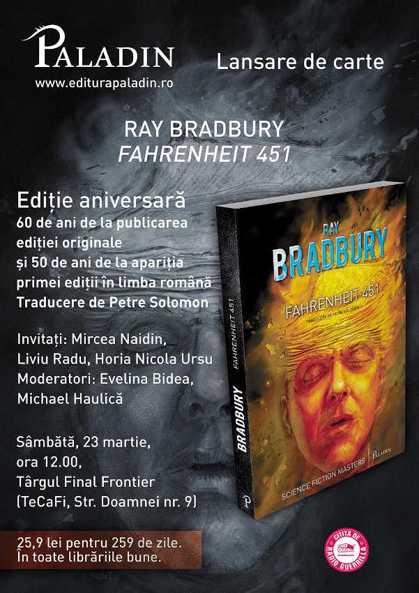 Lansare Fahrenheit 451 la Final Frontier850h